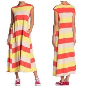 Free people beach womens luella maxi t-shirt dress
